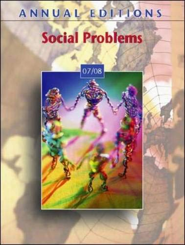 9780073397344: Annual Editions: Social Problems 07/08