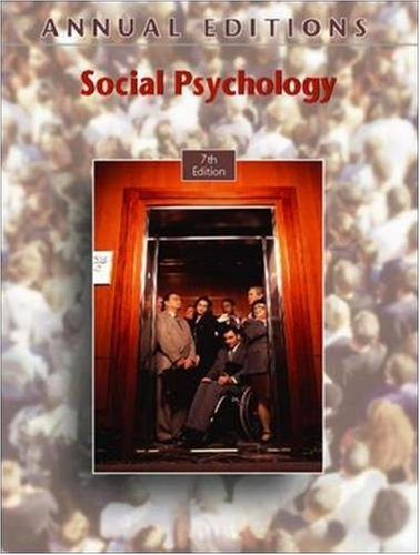 9780073397399: Annual Editions: Social Psychology, 7/e