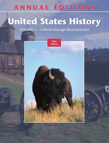 9780073397610: Annual Editions: United States History, Volume 1: Colonial through Reconstruction, 20/e