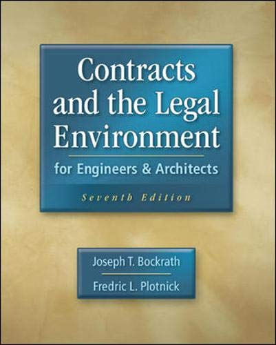 9780073397849: Contracts and the Legal Environment for Engineers and Architects