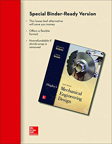 9780073399652: Loose Leaf for Shigley's Mechanical Engineering Design
