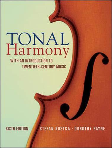 9780073401355: Tonal Harmony: With an Introduction to Twentieth Century Music