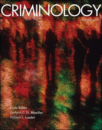 9780073401584: Criminology, 7th Edition