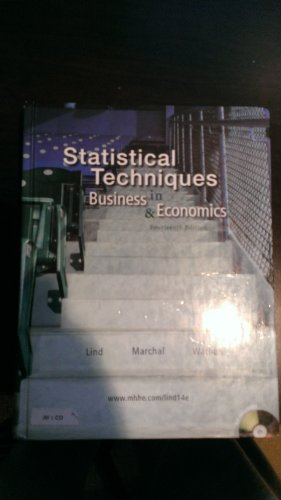 9780073401768: Statistical Techniques in Business & Economics
