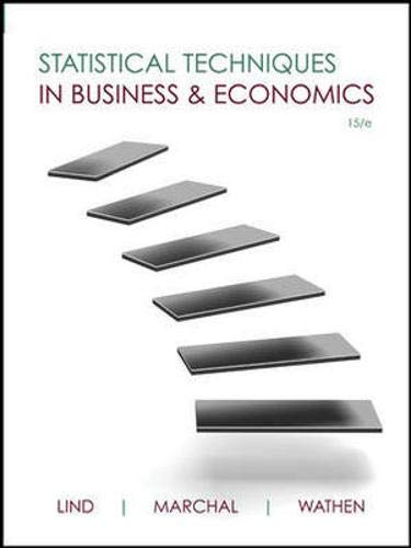 9780073401805: Statistical Techniques in Business and Economics (Mcgraw-hill/Irwin Series Operations and Decision Sciences)