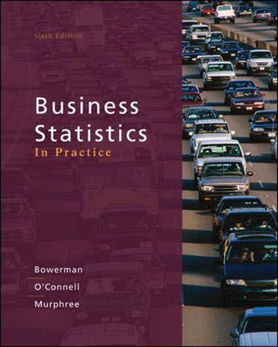 9780073401836: Business Statistics in Practice