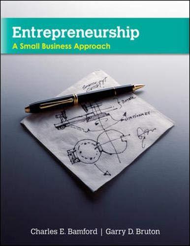 Entrepreneurship : A Small Business Approach: Charles E. Bamford;