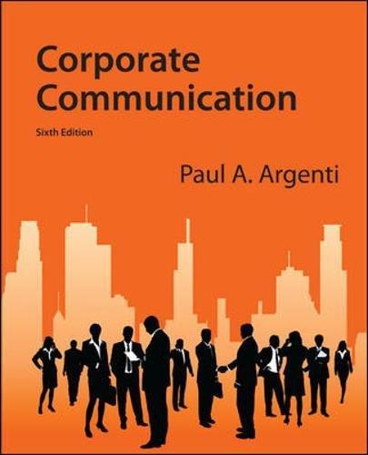 9780073403175: Corporate Communication