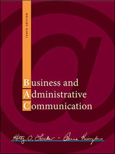 9780073403182: Business and Administrative Communication