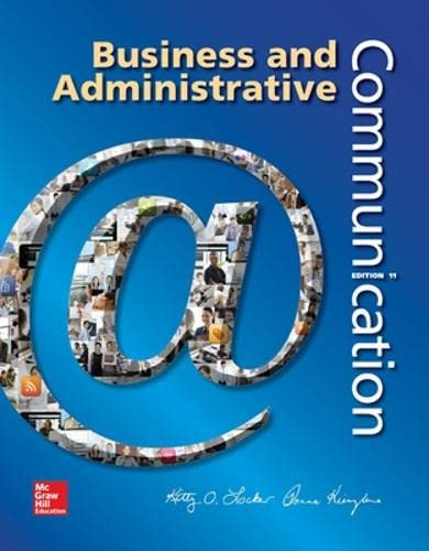 9780073403250: Business and Administrative Communication