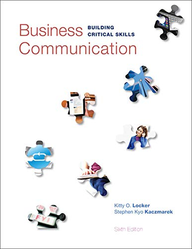 9780073403267: Business Communication: Building Critical Skills