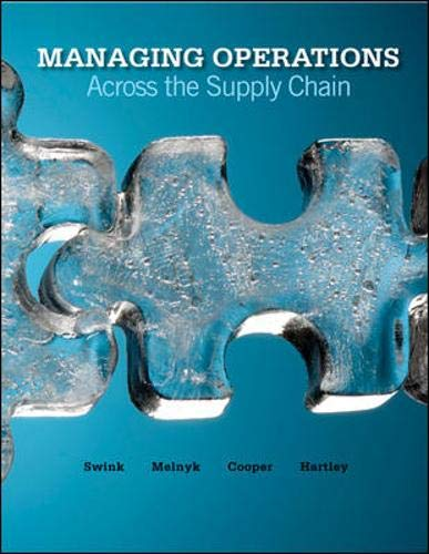 Managing Operations Across the Supply Chain: Swink, Morgan; Melnyk,