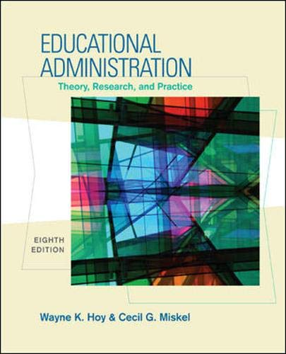 9780073403748: Educational Administration: Theory, Research, and Practice
