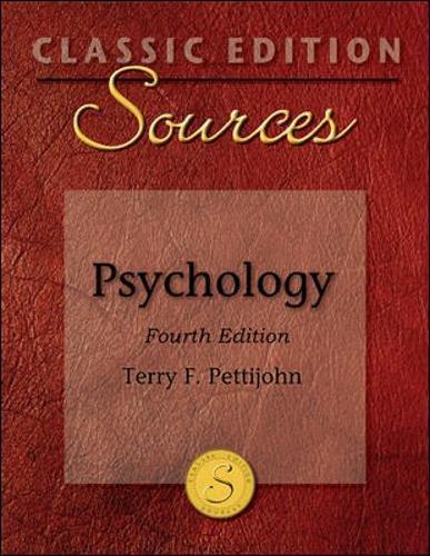 9780073404042: Classic Edition Sources: Psychology