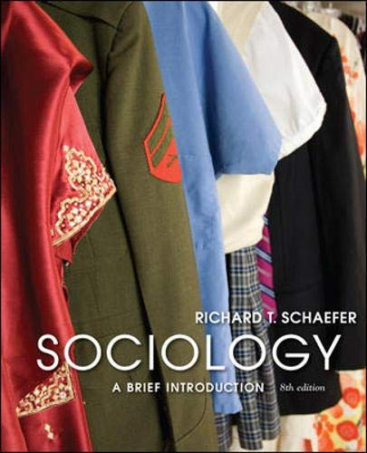 9780073404264: Sociology: A Brief Introduction [Paperback] [Sep 22, 2008] Schaefer, Richard T.