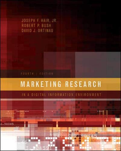 9780073404707: Marketing Research: In a Digital Information Environment