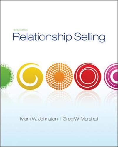 9780073404837: Relationship Selling