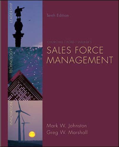 9780073404851: Sales Force Management