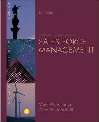 9780073404851: Sales Force Management