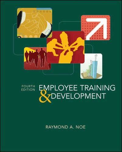 9780073404905: Employee Training & Development