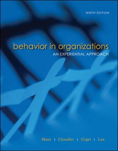 9780073404936: Behavior in Organizations (Irwin Management)