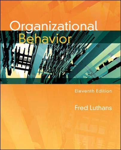 Organizational Behavior: Fred Luthans