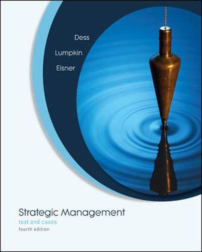 9780073404981: Strategic Management: Text and Cases