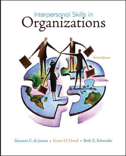 9780073405018: Interpersonal Skills in Organizations