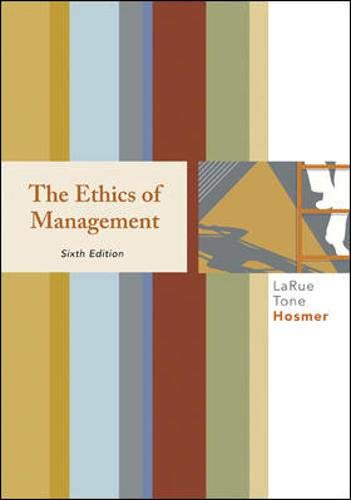 9780073405032: The Ethics of Management