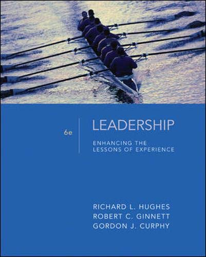 9780073405049: Leadership: Enhancing the Lessons of Experience