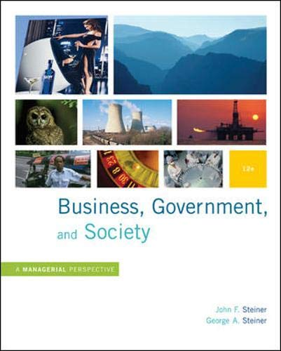 9780073405056: Business, Government and Society: A Managerial Perspective, Text and Cases, 12th Edition