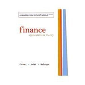 9780073405186: Finance: Applications and Theory Early Release