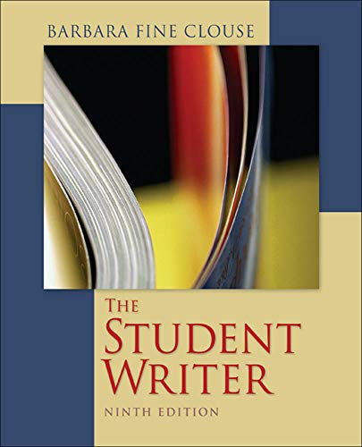 The Student Writer: Barbara Fine Clouse