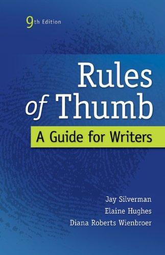 Rules of Thumb: Silverman, Jay; Hughes,
