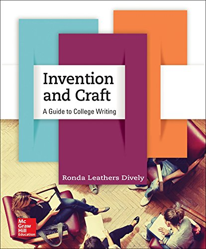 9780073406039: Invention and Craft: A Guide to College Writing