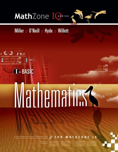 9780073406213: BASIC MATHEMATICS FOR MATHZONE IQ