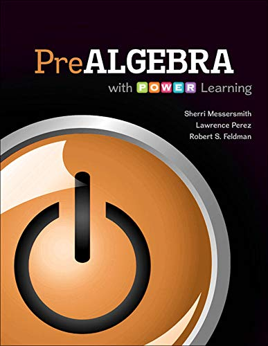 Prealgebra with P.O.W.E.R. Learning: Messersmith Assistant Professor,