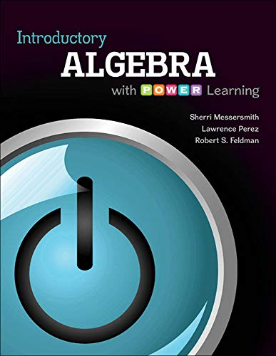 Introductory Algebra with P.O.W.E.R. Learning: Sherri Messersmith Assistant