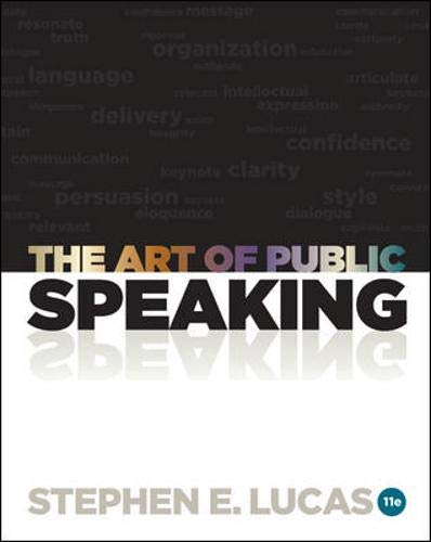 9780073406732: The Art of Public Speaking, 11th Edition