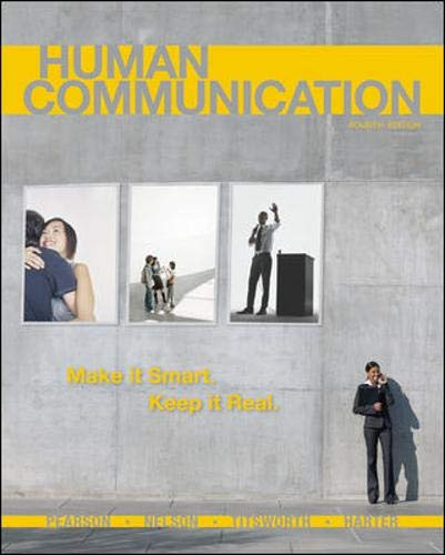 9780073406800: Human Communication