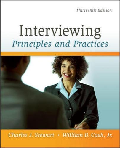 9780073406817: Interviewing: Principles and Practices