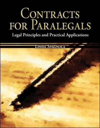 9780073511764: Contracts for Paralegals: Legal Principles and Practical Applications (Mcgraw-Hill Business Careers Paralegal Titles)