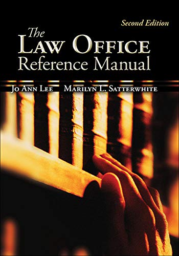 9780073511832: The Law Office Reference Manual (McGraw-Hill Business Careers Paralegal Titles)