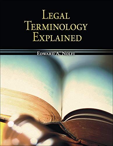 9780073511849: Legal Terminology Explained (Mcgraw-Hill Business Careers Paralegal Titles)