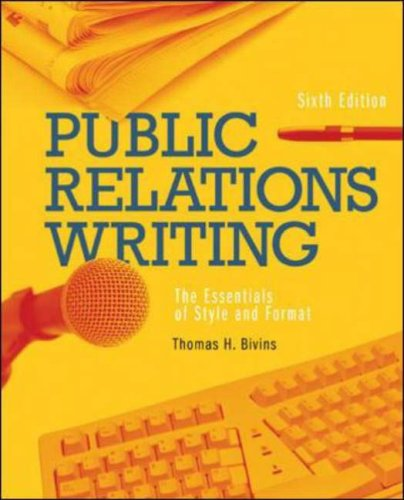9780073511924: Public Relations Writing: The Essentials of Style and Format