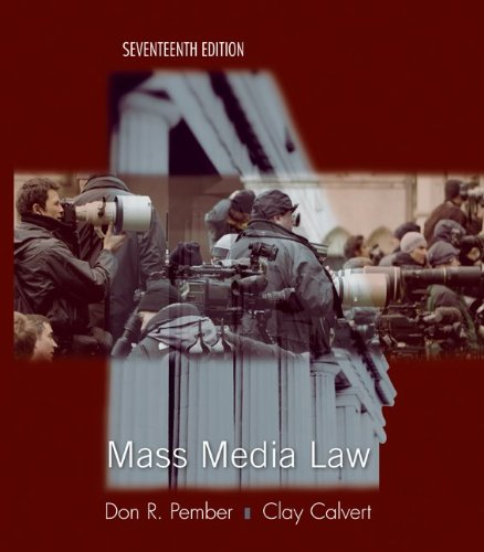 9780073511979: Mass Media Law
