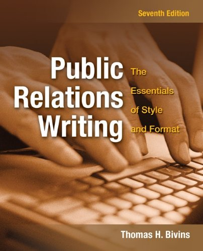 9780073511986: Public Relations Writing: The Essentials of Style and Format