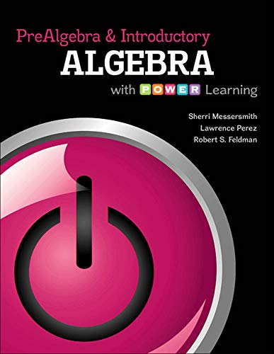 Prealgebra and Introductory Algebra with P.O.W.E.R. Learning: Messersmith Assistant Professor,