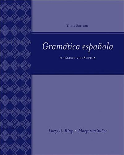 9780073513133: Gramática española: Análisis y práctica: Analisis Y Practica