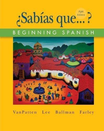 9780073513164: ¿Sabías que...?: Beginning Spanish